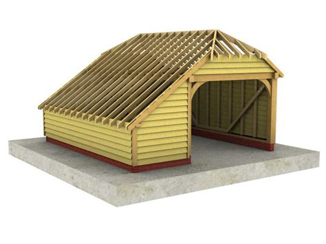 Half Hip Roof 1 Bay Garage With Integral Log Store And Half Hipped Roof