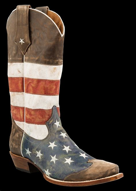 american flag mens boots roper s american flag snip toe brown toe cap cowboy boot
