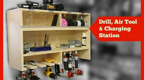 drill charging station  air tool storage  dust