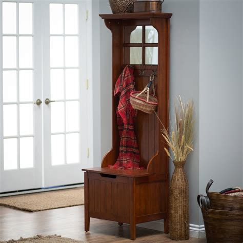 entryway hall tree bench hall tree bench entryway mini cherry wooden coat rack hat seat mirror storage coat