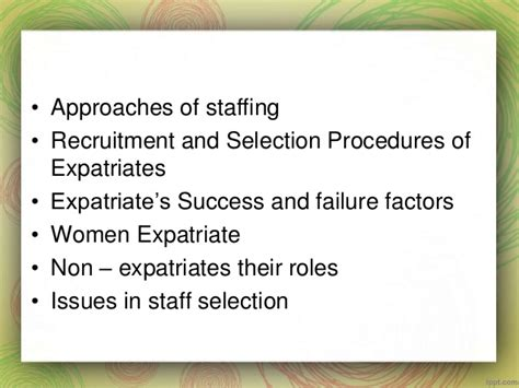 Recruitment And Selection Process Mba Notes by Chapter 3 International Staffing