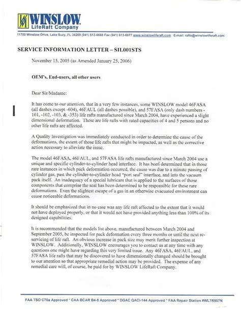 Service Letter Faa 3 26 03