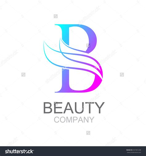 Unisex Kids Bathroom Ideas abstract letter b logo design template with beauty