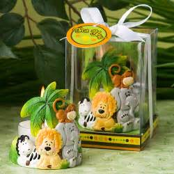 jungle critters collection candle favors safari baby