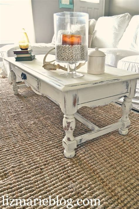 white distressed coffee table diy crafts