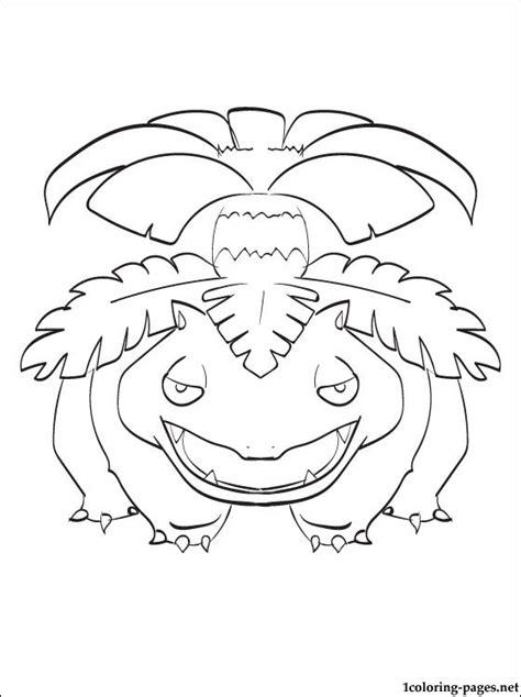 pokemon coloring pages mega venusaur pokemon venusaur drawing