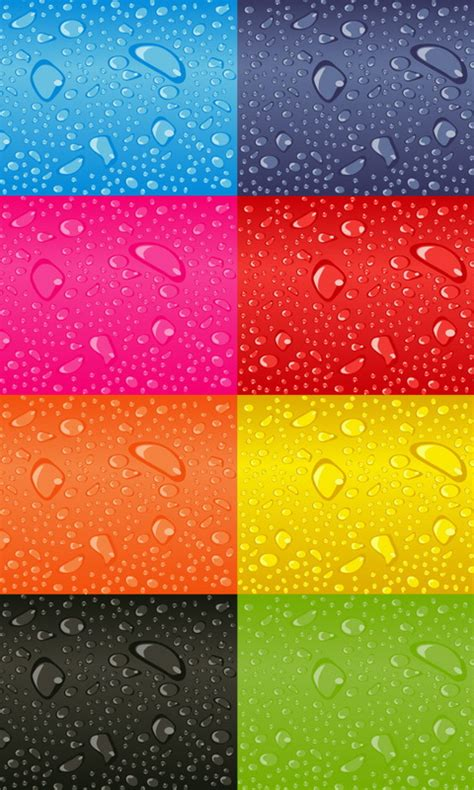 colorful phone wallpapers colorful water drops wallpaper wallpaper wide hd