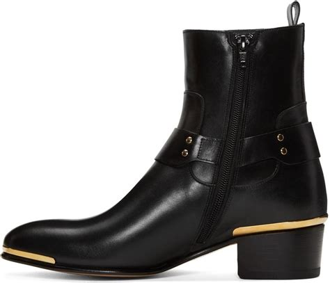 versace boots for versace black medusa harness boots in black for lyst