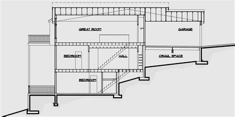 narrow sloping lot house plans single level living multi family sloping lot plans hillside plans daylight