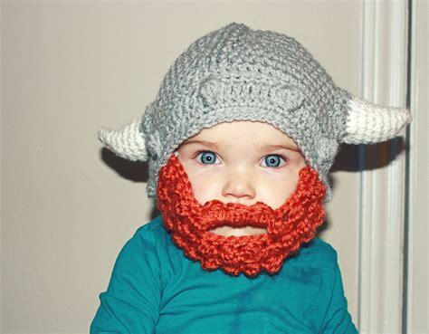 knit viking hat with beard pattern happy leif erikson day leif erikson viking beard