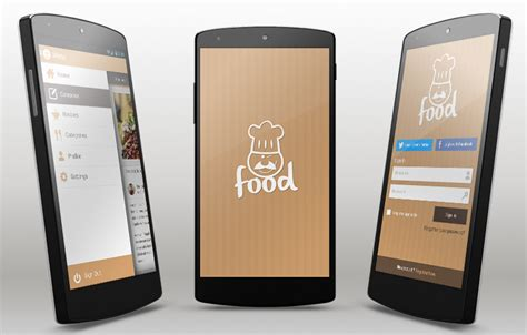 Food Android App Template Free Android App Templates For Android Studio