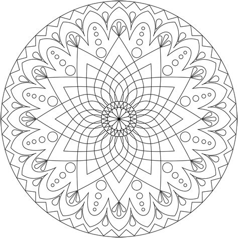 free mandala for relaxation coloring pages