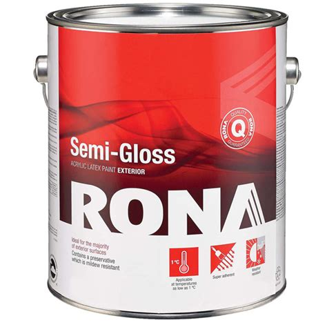 semi gloss exterior paint paint quot semi gloss finish quot exterior acrylic rona