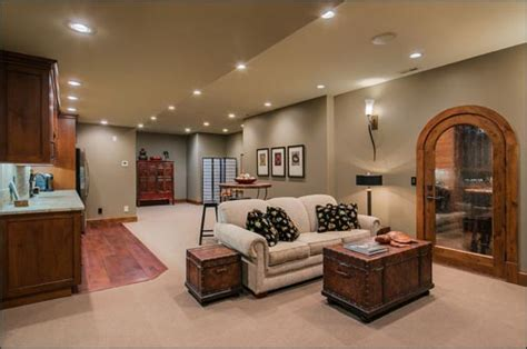 home theater downstairs living room  wine cellar