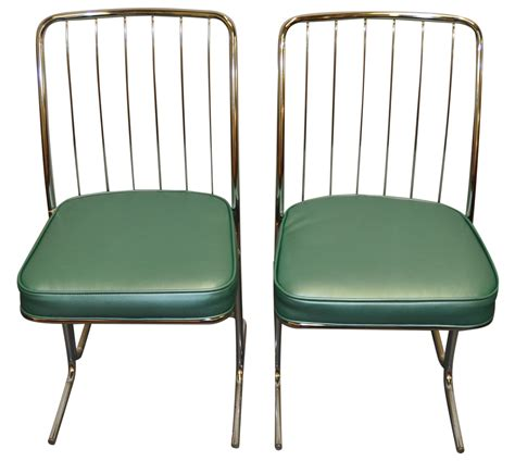 1950s chrome vinyl kitchen chairs set of four chairish