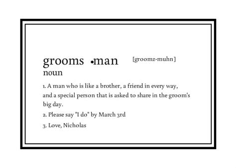Groomsmen Template Groomsmen Groomsmen Invitation And Ideas On