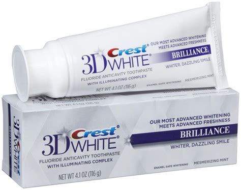 toothpaste whitening new crest 3d white brilliance white teeth whitening