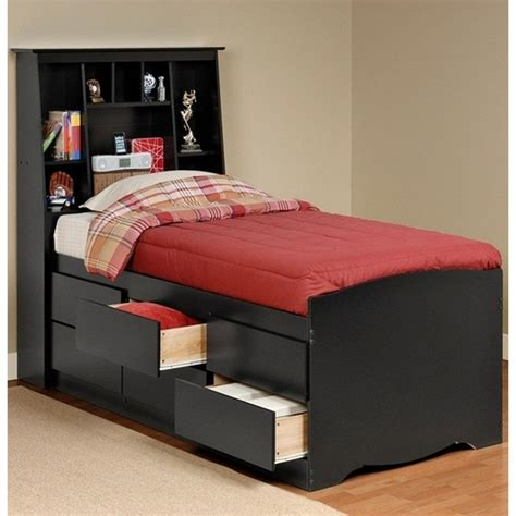 Black Storage Headboard by Sonoma Black Storage Bed And Headboard Bed