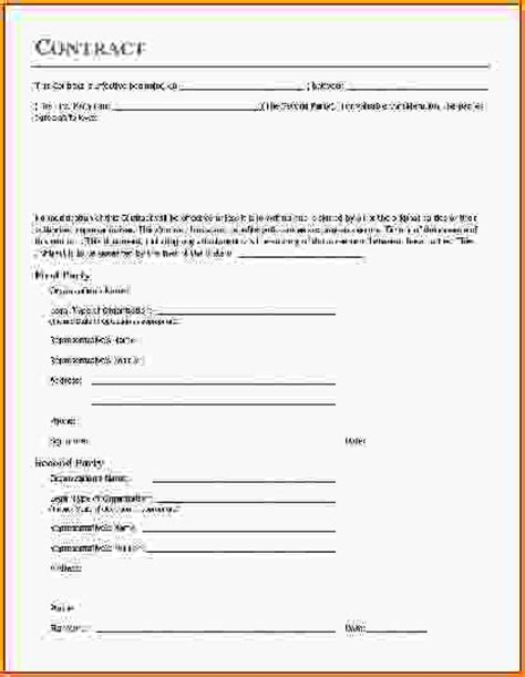 vendor contract template basic contract template basic vendor contract template jpg