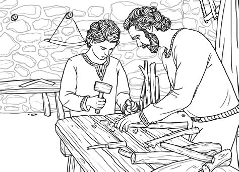 coloring pages of joseph the carpenter saint coloring pages for kids 50319 thecoloringpage free