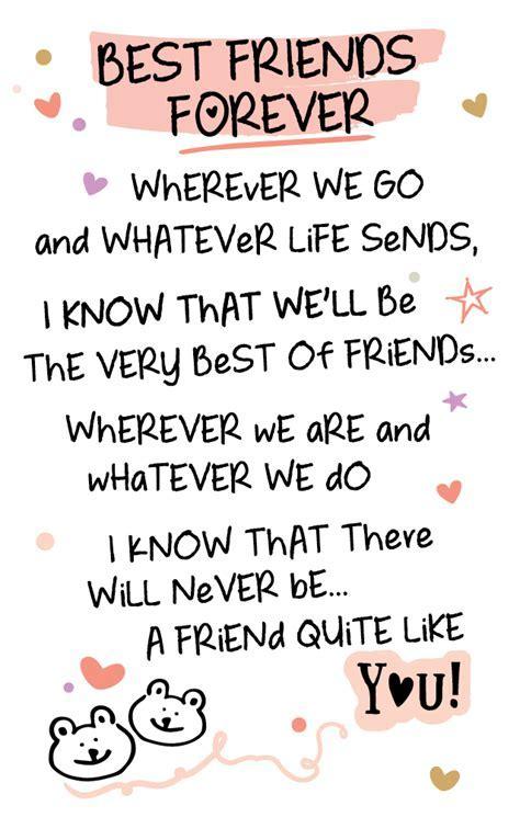 Best Friends Forever Inspired Words Keepsake Credit Card
