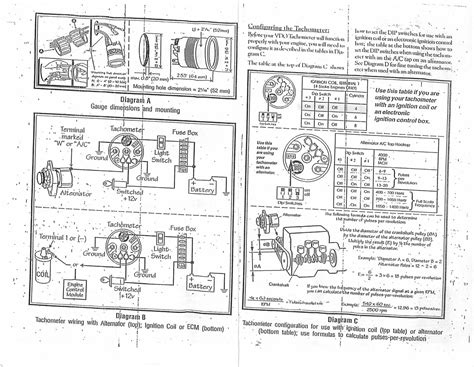 vdo tachometer wiring diagram circuit diagram