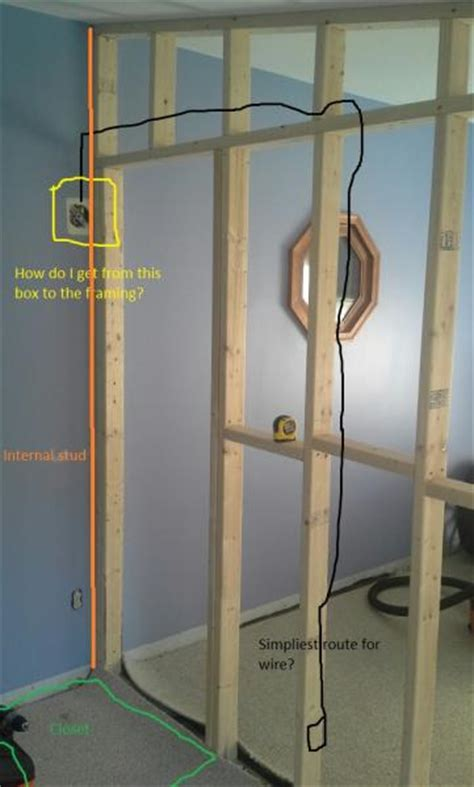 adding wiring to a new partition wall doityourself com