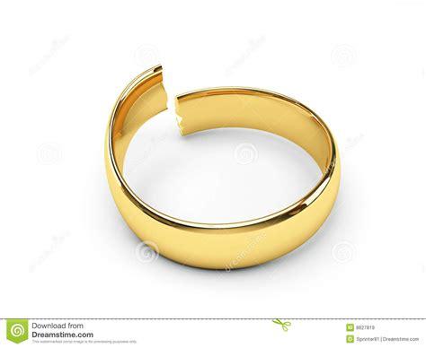 broken gold wedding rings royalty free stock images