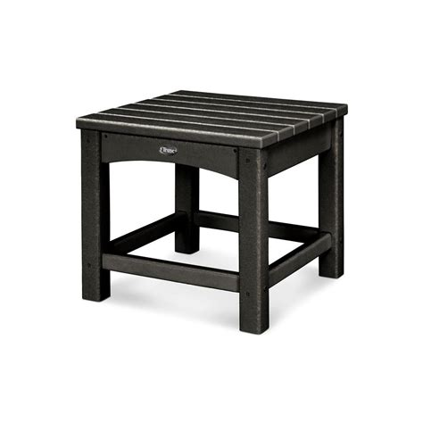 black patio side table trex outdoor furniture rockport charcoal black patio side