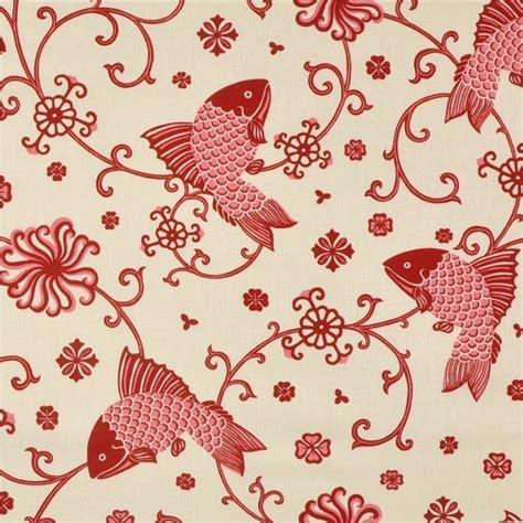oriental upholstery fabric lee jofa fabric oriental fishes red on 949101 lj 0 asian