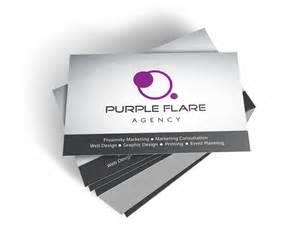 printer business cards purple flare agency printing business cards