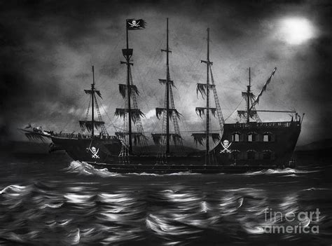white soul boat haunted pirate ship painting by lynn jackson