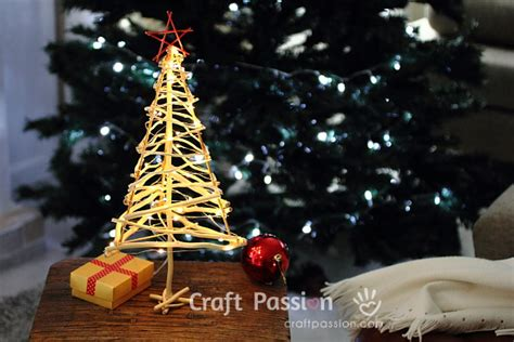 christmas tree made with twigs twiggy tree diy pattern tutorial craft