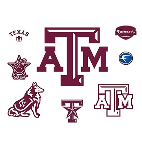 Vermont Kitchen Cabinets buy texas a amp m university logo junior fatheads from bed