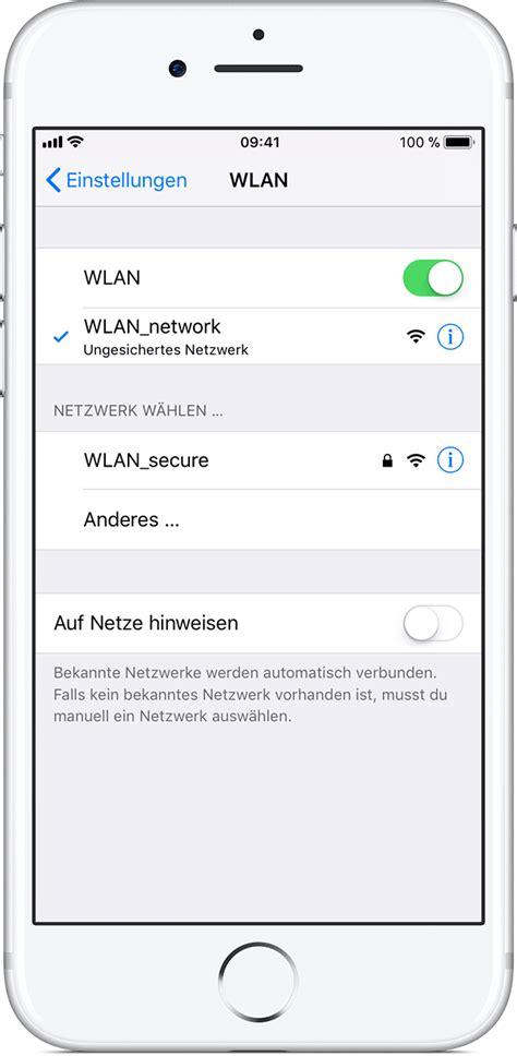 wlan automatisch verbinden wlan verbindung auf dem iphone oder ipod touch