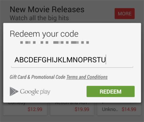 how to use a google play gift card android central - Gift Card Codes For Google Play Store
