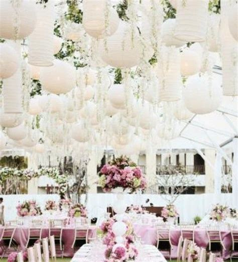 Wedding Decor Flowers by Paper Lanterns And Hanging Flowers For Wedding Decor