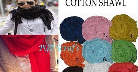 Termurah Pashmina Ombre Rawis Tidak Licin Warna cotton shawl pashmina rawis polos