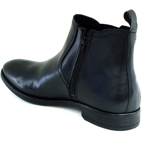 Dress Shoe Ankle by Mens Chelsea Boots Slip On Ankle Loafers Leather Comfort Casual Dress Shoes New Ebay