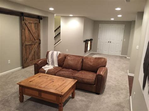 finished basement walls  agreeable gray  sherwin