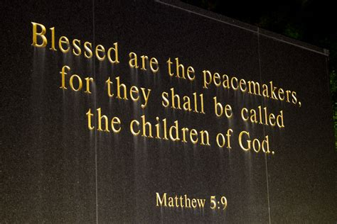 blessed are the peacemakers the memorial to fallen