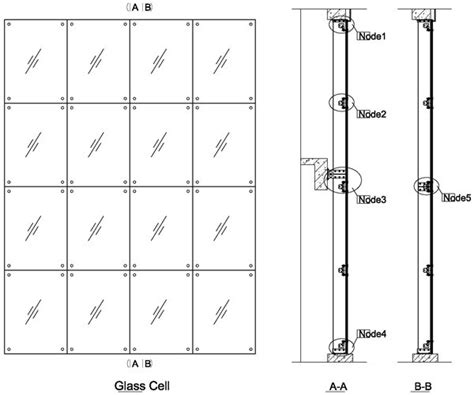 curtain wall detail dwg fin glass design with 220mm fin spider fitting curtain