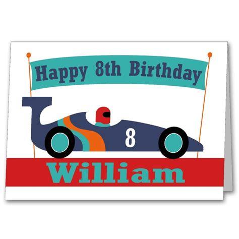 Birthday Card Car Boys Personalised Racing Car Age Birthday Card Folksy