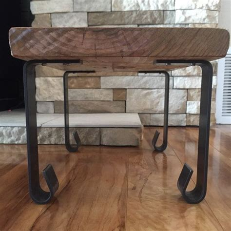 rustic metal table legs handcrafted forged rustic reclaimed metal coffee table