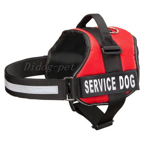 service dog vest harness didog red reflective service dog harness vest with double
