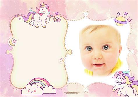 imagenes videos para bebes fotomontaje infantil con unicornios fotomontajes infantiles