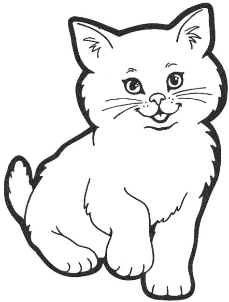 Cat Coloring Pages 01 Cat Color Page