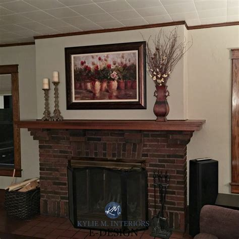 decorate living room with brick fireplace awesome home