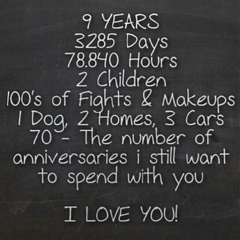 9 Year Wedding Anniversary Quotes For by 25 Best 9 Year Anniversary Ideas On