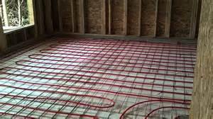 install radiant  floor heat youtube
